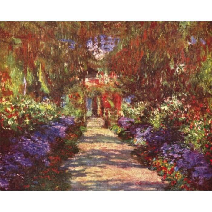 claude monet poster reproduction une all e du jardin giverny 1902 40 x 50 cm achat. Black Bedroom Furniture Sets. Home Design Ideas