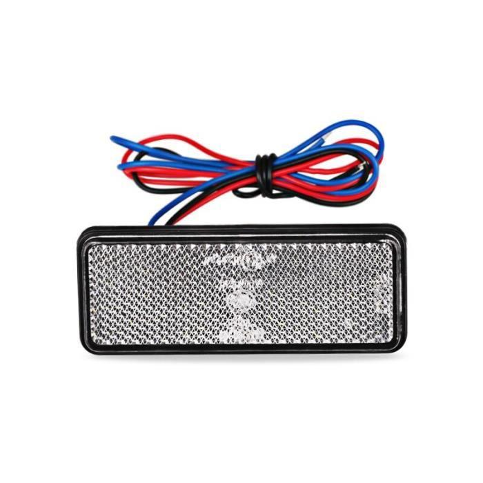Réflecteur de frein arrière 12V rouge blanc ambre, feu de position latéral d'avertissement d'arrêt pour Jeep camion [33F40C3]