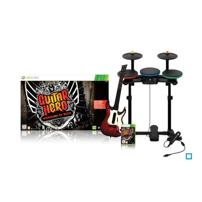 JEUX XBOX 360 SUPER PACK GUITAR HERO Warriors of Rock / Jeu cons