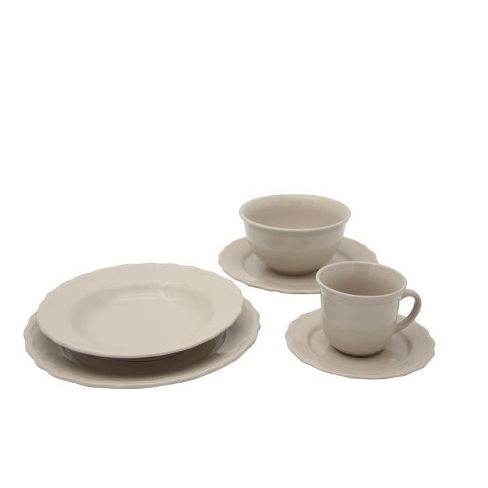 Service de table - 24 pièces - Collection Patrimo - beige