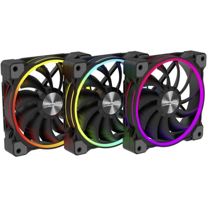 Ventilateur pour PC Alpenföhn Wing Boost 3 ARGB High Speed PWM 84000000163 noir (l x h x p) 120 x 120 x 25 mm 3 pc(s)