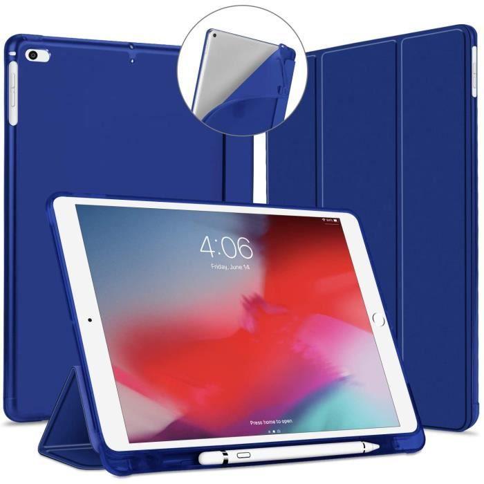 Coque pour iPad 9,7 2018 2017 /iPad Air 1 2 avec Pencil Holder, Étui Cover de Protection[Sommeil/Réveil Automatique], Souple25482