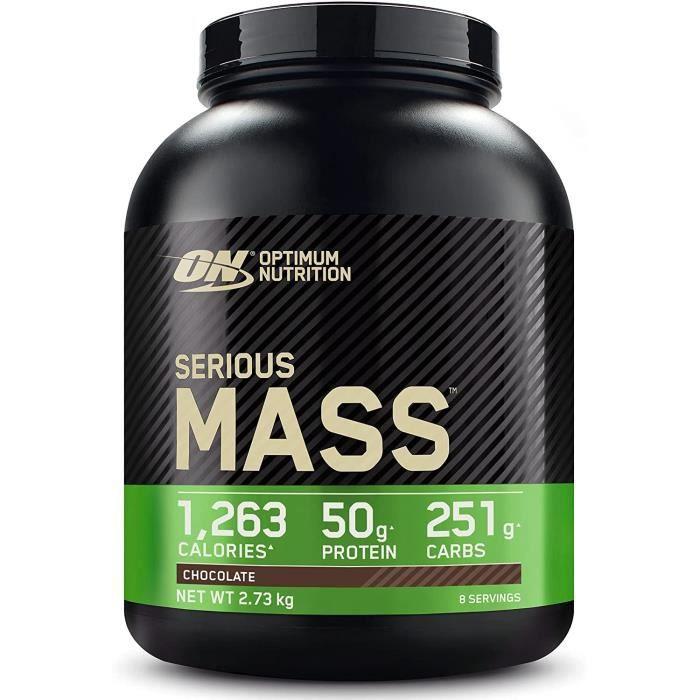 Optimum Nutrition Serious Mass, Mass Gainer avec Whey, Proteines Musculation Pr de Masse avec Vitamines, Creatine et Glutamine,4