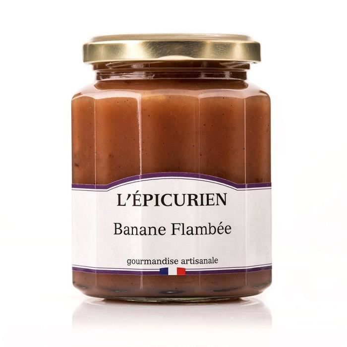 Confiture modele banane flambee