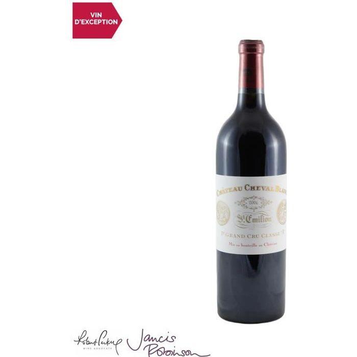 Château Cheval Blanc Saint-Emilion 1er Grand Cru Classé A Rouge 2006 - 75cl - Vin AOC Rouge de Bordeaux - 18-20 Jancis Robinson - Cé