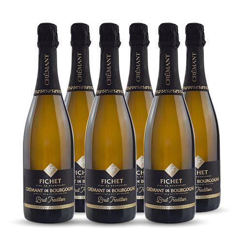 6 bouteilles - Vin blanc - Effervescent - Domaine FICHET Pierre-Yves & Olivier -Tradition- Crémant de Bourgogne Blanc 6x75cl