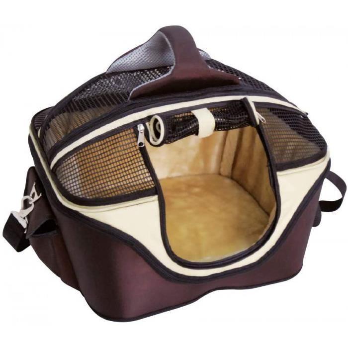 fast&easy sac 2en1, sac de transport et panier de couchage pour chien et chat, sac bandoulière pour animal de compagnie, sac de tran
