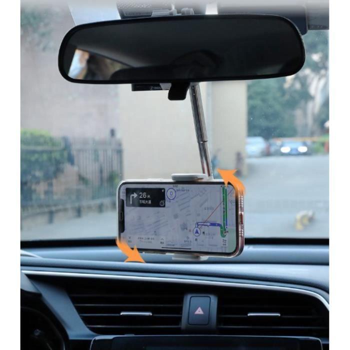 Support universel de support de rétroviseur de voiture 360 ° Support de support de GPS de téléphone portable