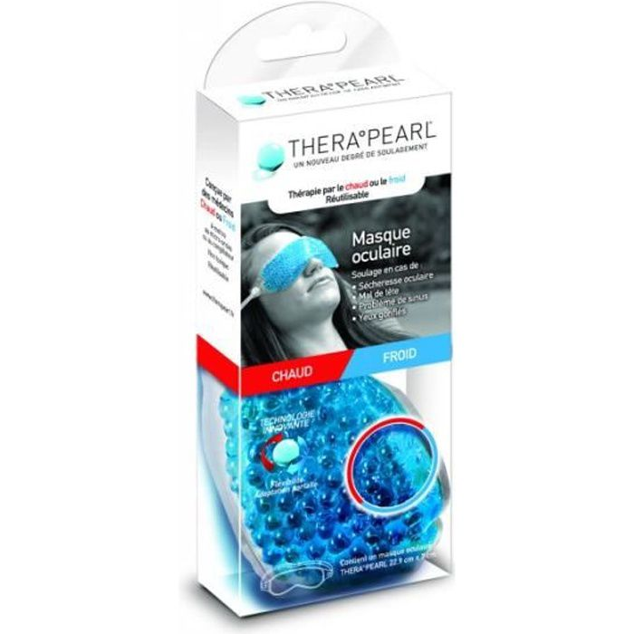 BAUSCH & LOMB THERA PEARL - Masque Oculaire Chaud ou Froid - 1 Unité