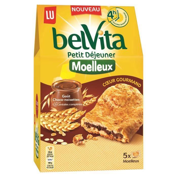 Biscuits petit déjeuner chocolat/noisette 5 x 25 g Belvita