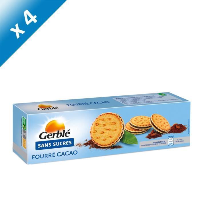 [LOT DE 4] GERBLE Goûters fourrés au cacao, sans sucres - 185 g