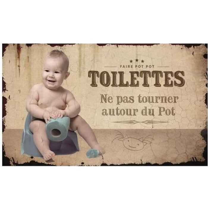 Plaque de Porte Toilettes - Cadeau Maestro Blanc
