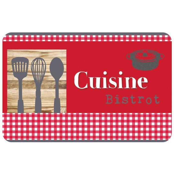 set de table 28.5 x 44 cm polypropylene opaque cuisine gourmande