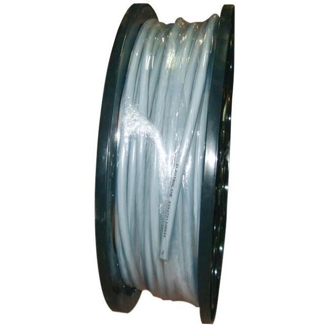 Câble souple HO5VVF - 4x2.5 mm² - 1/2 touret 75 m - gris