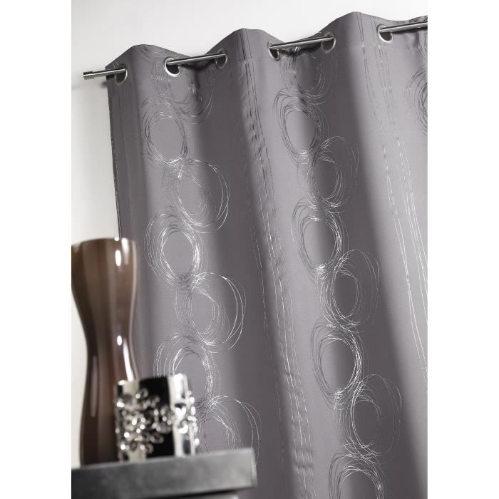argent rideau bachette gris 140x260cm ebay. Black Bedroom Furniture Sets. Home Design Ideas