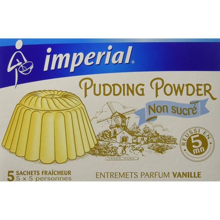 Imperial Pudding Powder Préparation Pour Pudding Non Sucré Vanillé 5 Sachets Fraîcheur Pour 5 Personnes - Lot de 6