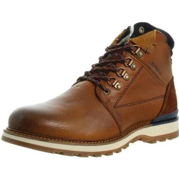 Boots Redskins Bardane cuir ref_46905 Cognac