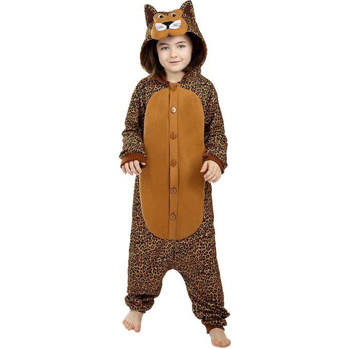 Déguisement léopard onesie pour fille et garçon ▶ Animaux, Désert, Jungle - Multicolore