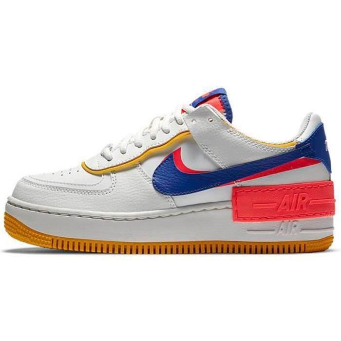 Basket Air Force 1 Shadow Air Force One AF 1 Low Chaussures de Running Femme CI0919-1105