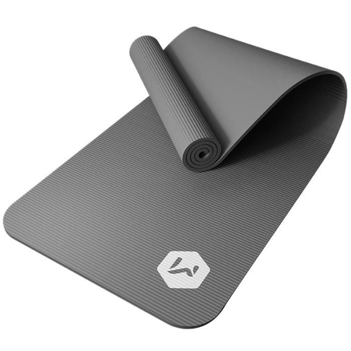 Noir 1850X800X10Mm ÉPaissi Tapis de Yoga AntidéRapant RéSistant NBR Fitness Tapis de Gym Tapis de Gymnastique Pilates Pads
