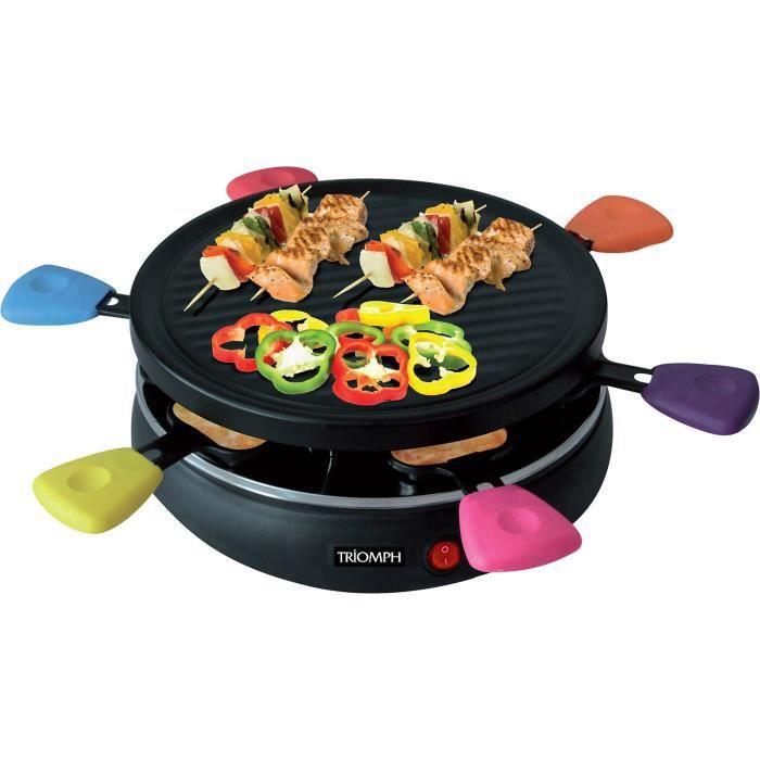 Appareil à raclette-Grill - 6 personnes - Multicolore - Triomph ETF1617