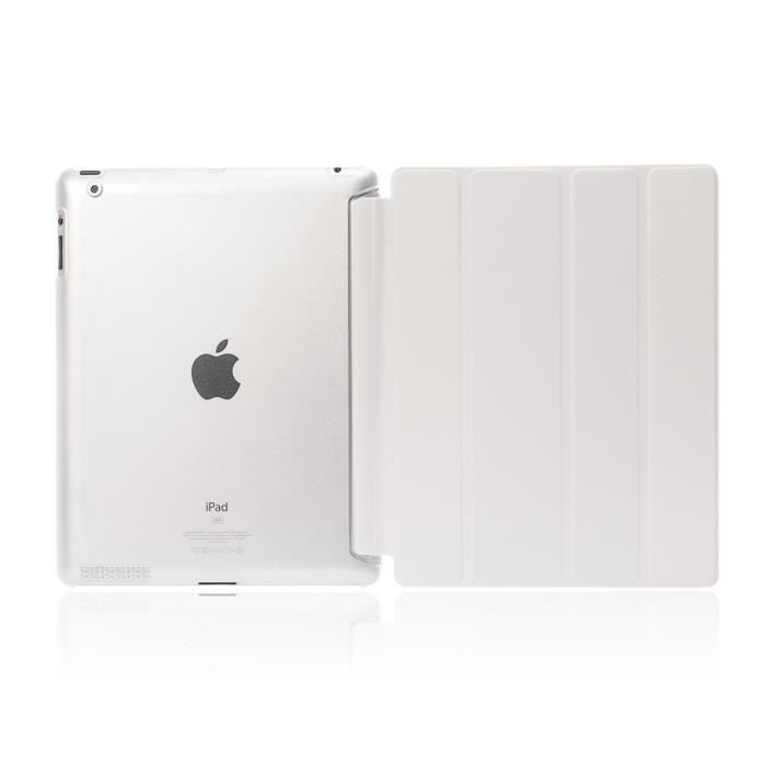 ipad air 2 housse coque de protection blanc prix pas cher soldes cdiscount. Black Bedroom Furniture Sets. Home Design Ideas