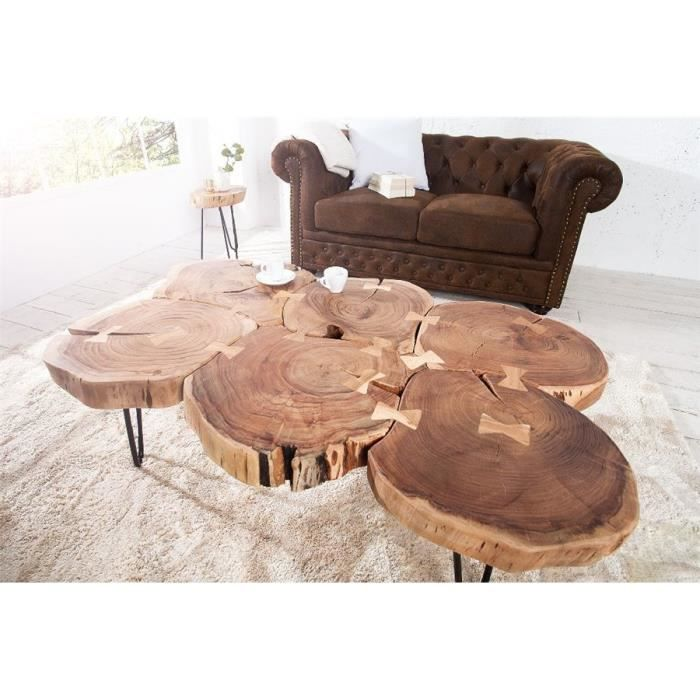 rondin de bois table de chevet table de nuit rondin diy diy une table avec des rondins de bois. Black Bedroom Furniture Sets. Home Design Ideas