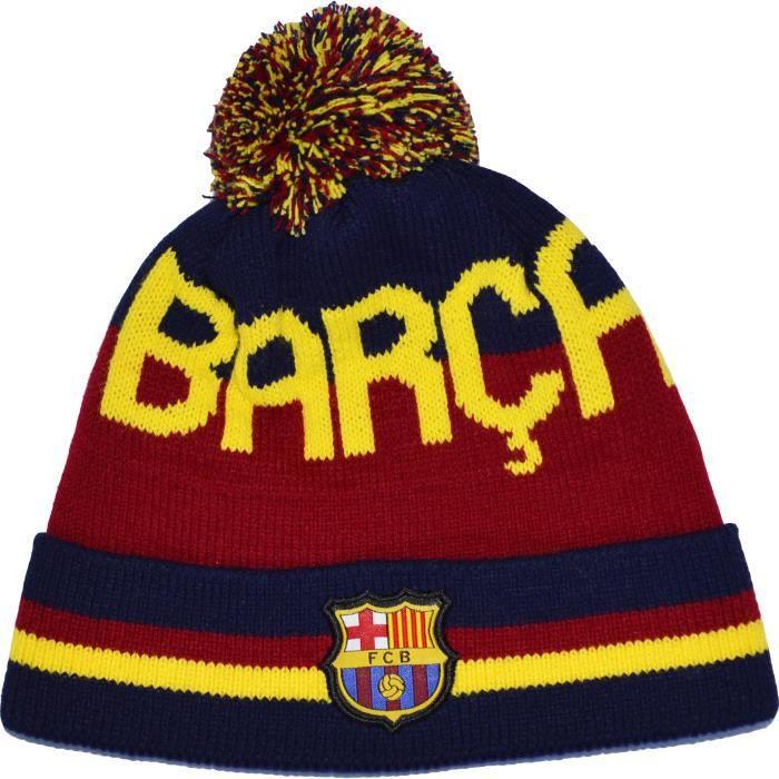 Football Liga Espagne collection officielle supporter FC Barcelone Barcelona Bonnet pompon BARCA