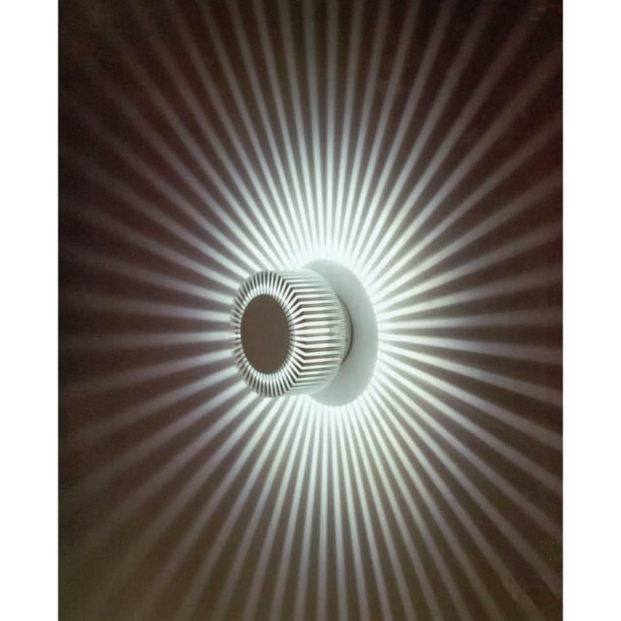 Applique murale pour lumi re d 39 ambiance led cob type sunled large 5 w lumi re blanche imitation for Applique lumiere exterieur