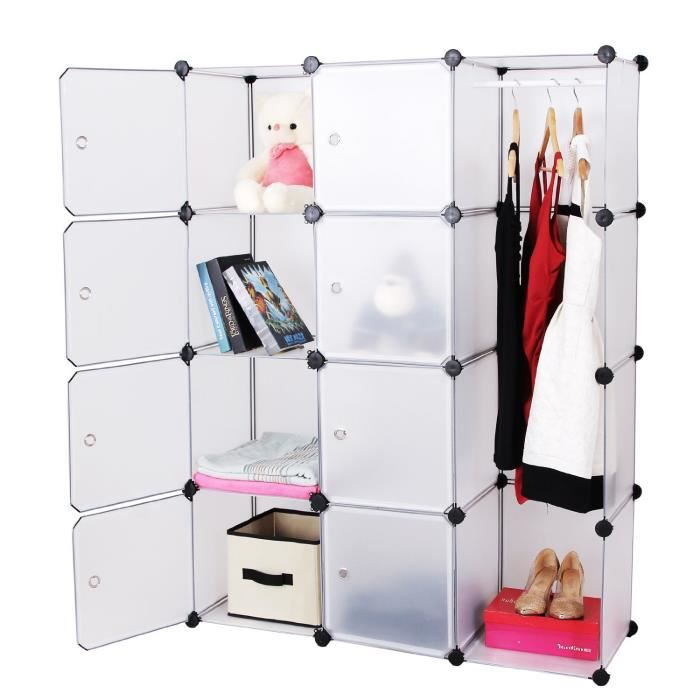 armoire etagere penderie modulable achat vente. Black Bedroom Furniture Sets. Home Design Ideas