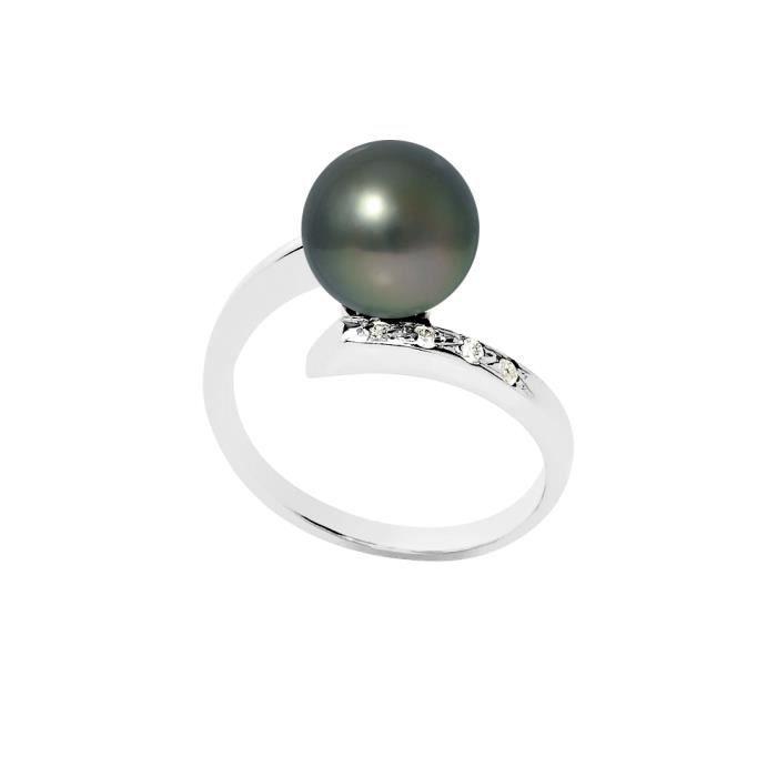 bague or blanc perle de tahiti et diamants