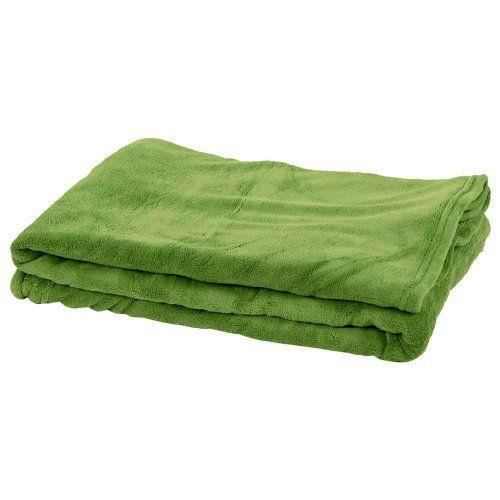 comptoir du linge micpom13 plaid microfibre doux vert pomme achat vente couverture plaid. Black Bedroom Furniture Sets. Home Design Ideas