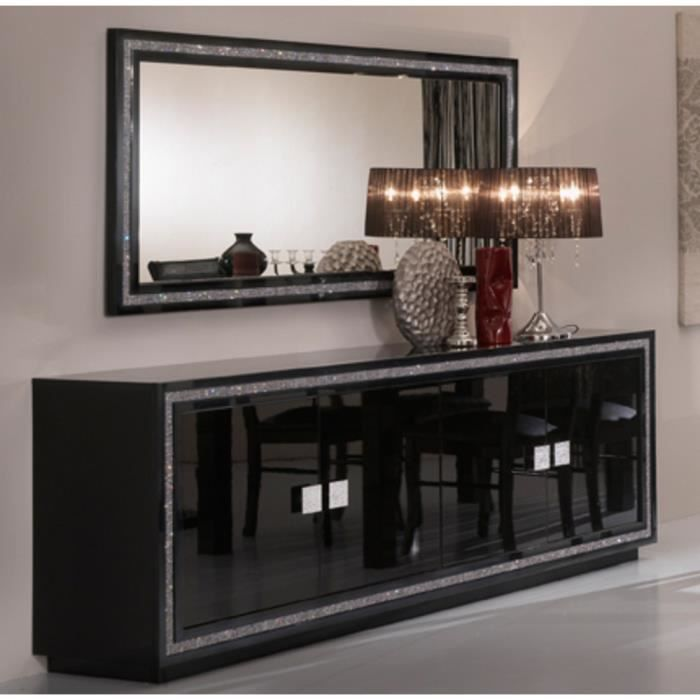 salle manger model prestige bahut 4 portes miroir 190 cm achat vente buffet bahut. Black Bedroom Furniture Sets. Home Design Ideas