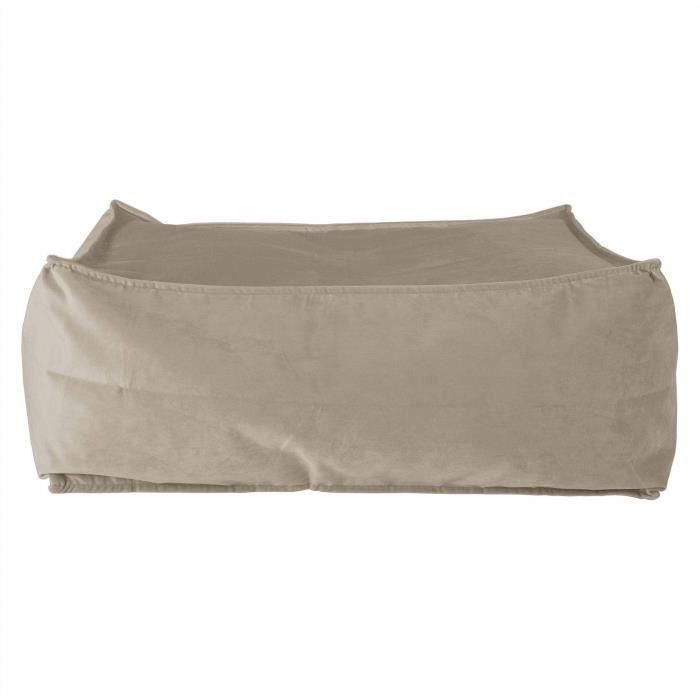 Pouf Poire Classique avec Repose-Pied Lounge Pug/® Stonewashed Gris
