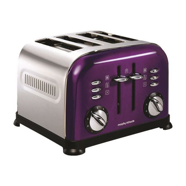 morphy richards 44737 toaster purple accents 4 achat vente grille pain toaster cdiscount. Black Bedroom Furniture Sets. Home Design Ideas