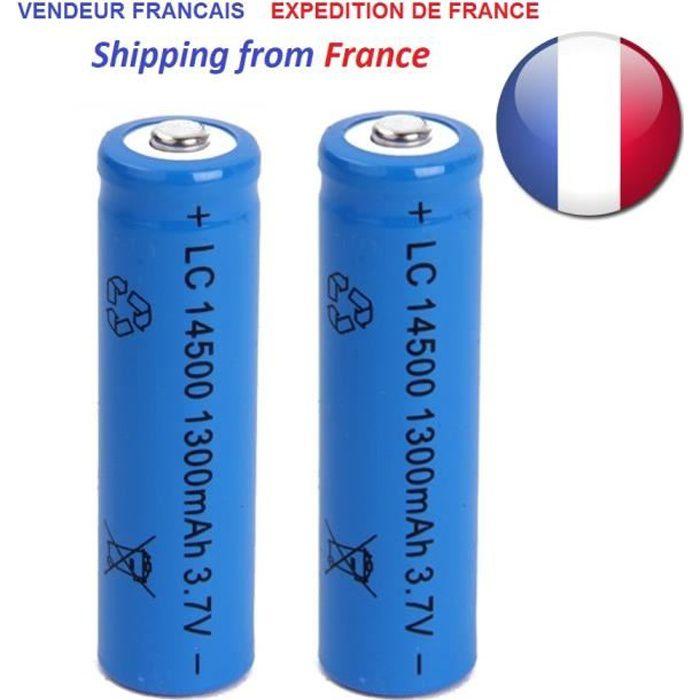 CHARGEUR DE PILES MOVTTEK® 2 batteries rechargeable lithium 3.7V 120