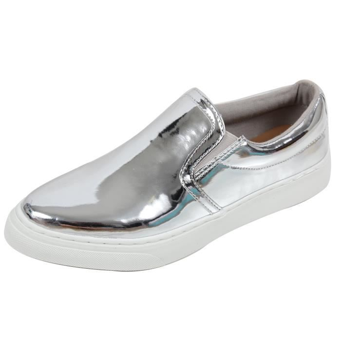 If13 Classic Elastic Panel Slip On Stitched Fashion Sneaker VTG0P Taille-41