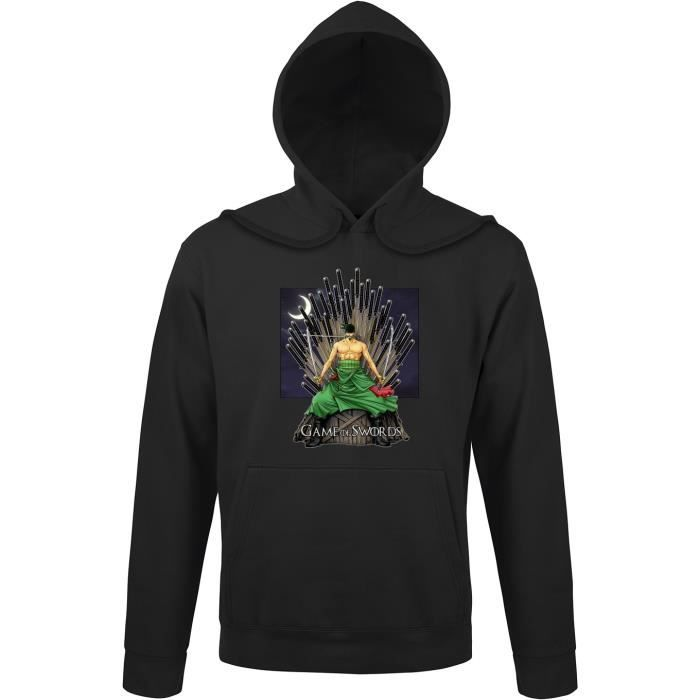 SWEATSHIRT Sweat à capuche Noir One Piece - Game of Thrones p