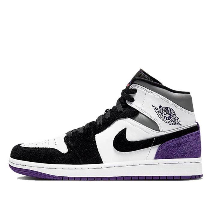 Baskets Air Jordan 1 Mid SE Purple AJ1 Baskets Pour hommes et ...