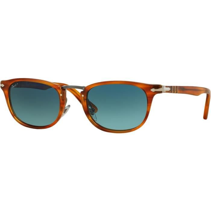Lunettes de soleil Persol 3127S Typewriter Edition Tabac Rayé Bleu ... 8e3c038818cd