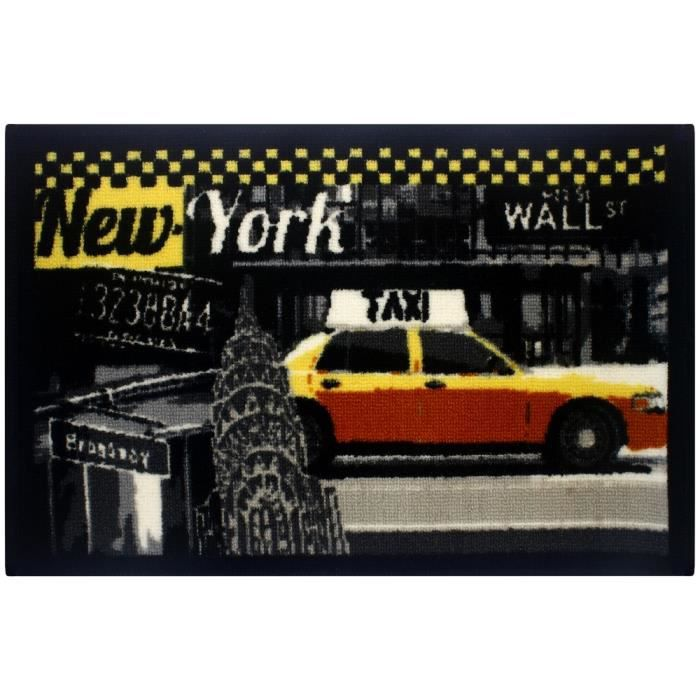tapis city new york avenue taxi gros plan entr e passage pi ces evier cuisine achat vente. Black Bedroom Furniture Sets. Home Design Ideas