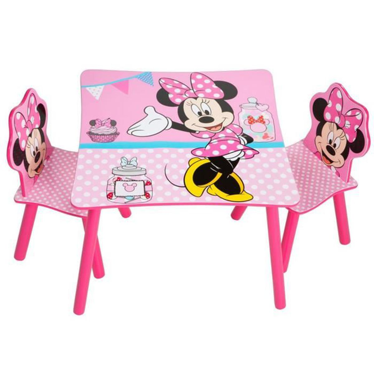 ensemble table et 2 chaises pour enfant motif disney. Black Bedroom Furniture Sets. Home Design Ideas