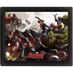 Cadre 3D Avengers Age Of UltronBataille