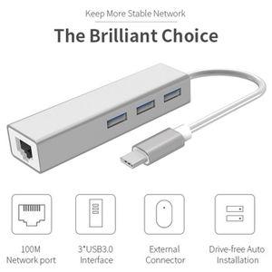 CARTE RÉSEAU  3 en 1 concentrateur USB de type C 4K HDMI USB-C v