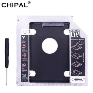 HOUSSE DISQUE DUR EXT. CHIPAL universel double LED 2nd HDD Caddy 12.7 MM