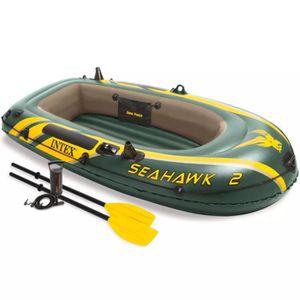 AVIRON Set bateau gonflable avec rames + pompe Intex Seah