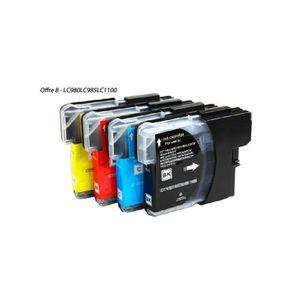 CARTOUCHE IMPRIMANTE Pack 4 cartouches d'encre BROTHER compatible LC-98