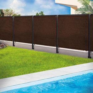CLÔTURE - GRILLAGE Brise vue marron renforce 1,5x10 m qualite pro
