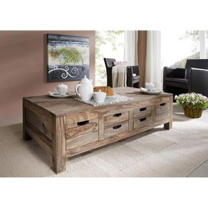 TABLE BASSE Table basses rectangulaire 135x70 cm, Bois Massif