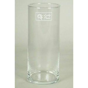 Vase de Table Photophore Transparent /Ø 12cm INNA-Glas Bougeoir de Table en Verre Joana sur Pied Transparent 40cm Cylindre Rond